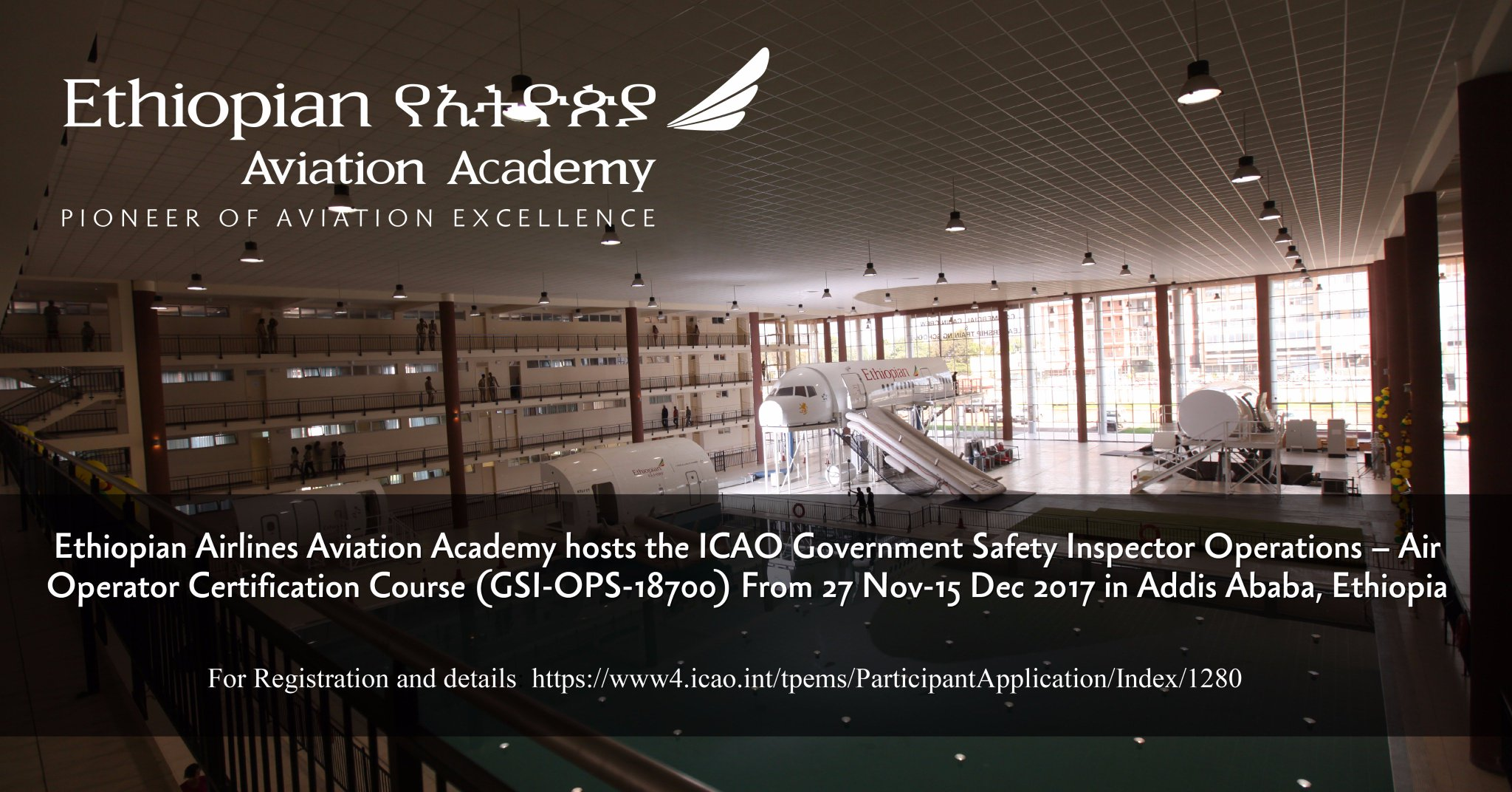 Ethiopian Airlines On Twitter Ethiopian Aviation Academy Hosts The Icao Government Safety Inspector Operations Air Operator Certification Course Gsi Ops 18700 From 27 Nov 15 Dec 2017 In Addis Ababa Ethiopia Follow The Link