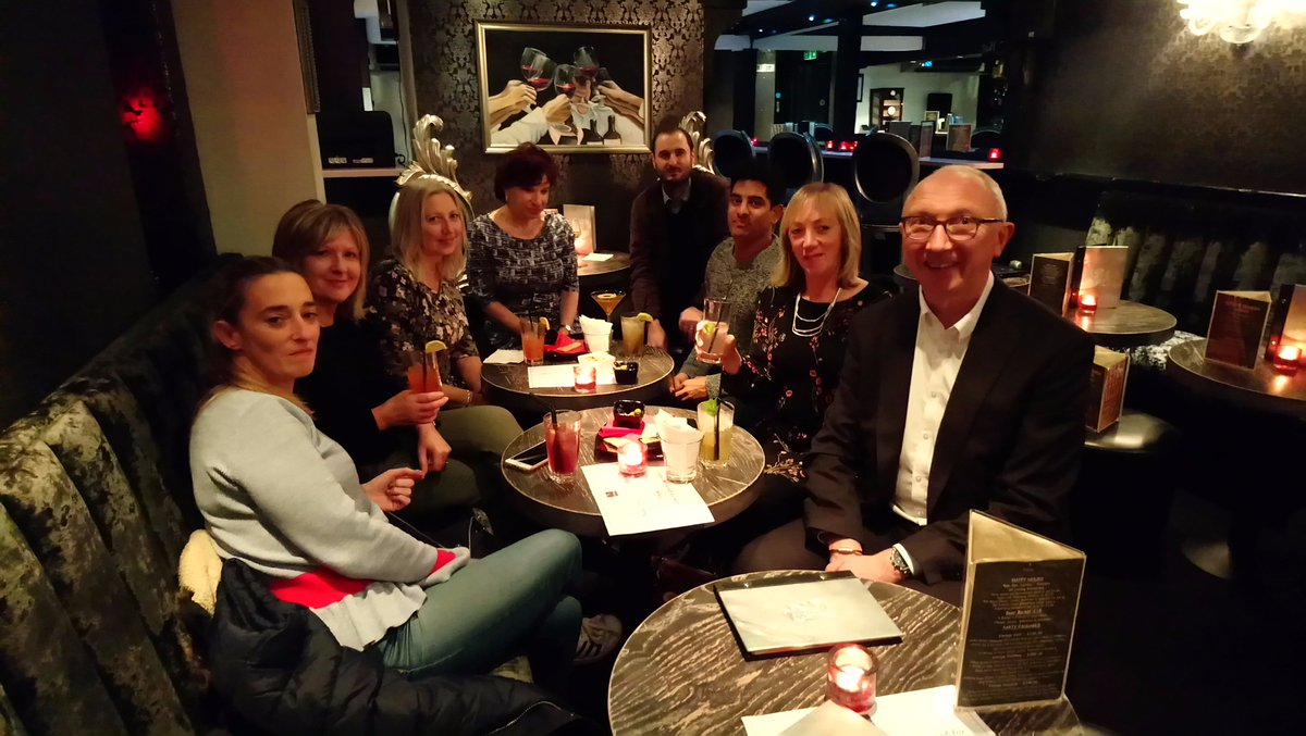 The #RealService team out for Kiran's leaving drinks last night!