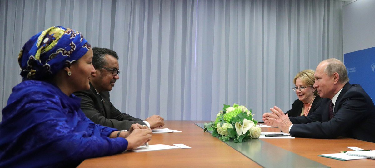 """World Health Organization (WHO) on Twitter: """".@DrTedros met with ..."""
