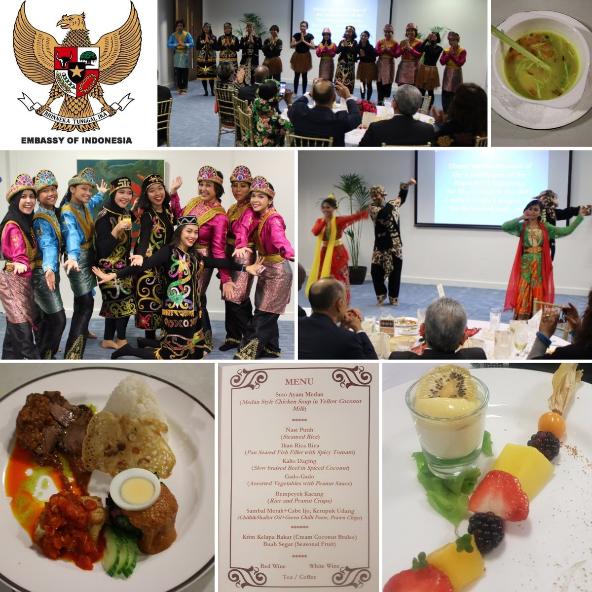 Dr Rizal Sukma On Twitter Showcasing A Medley Of Indonesian Ayam Rica Merah Dances Presenting Culinary Taste Different Islands In Indonesia To My Friends From The