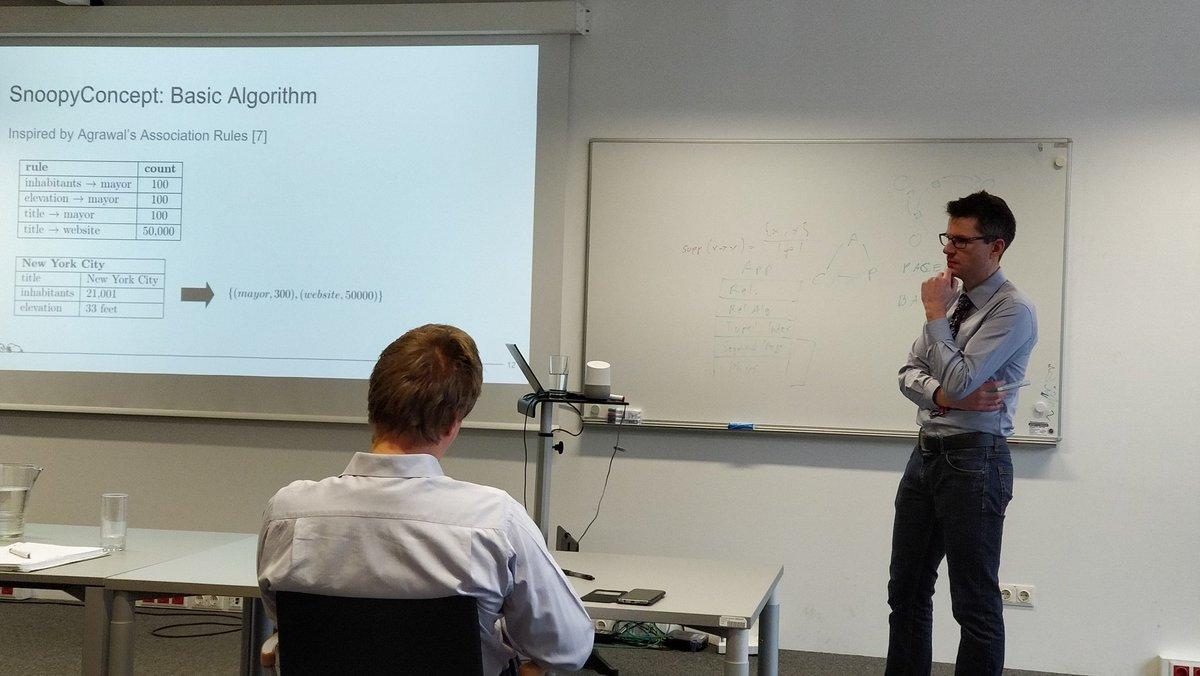 Almost Dr. @schafele defending his #PhD #thesis on #SnoopyDb   @dbisibk<br>http://pic.twitter.com/yU26NNHWzp