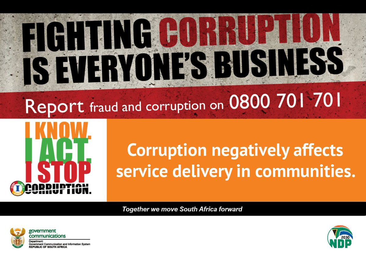 South African Government On Twitter Report Fraud And Corruption Saagainstcorruption