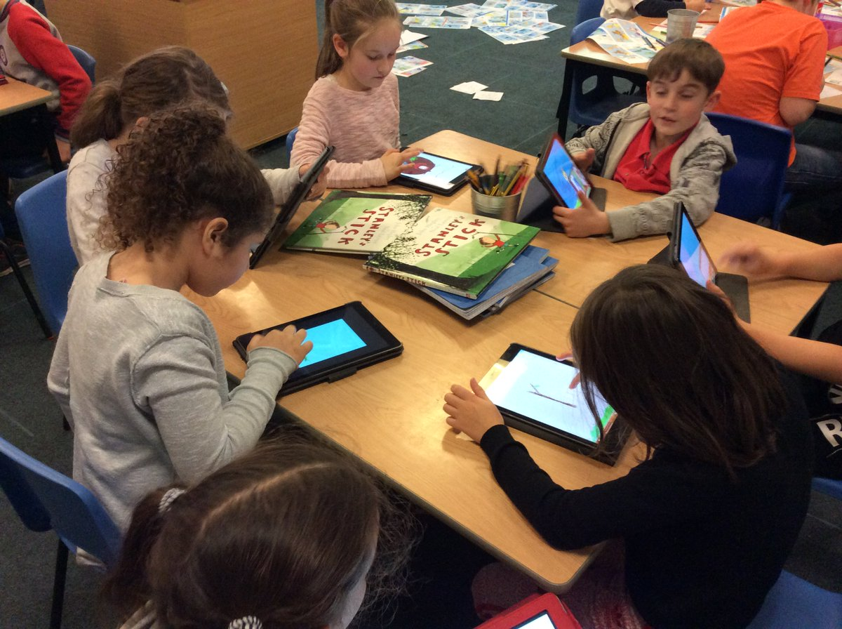 test Twitter Media - Designing front covers for our theme work on the iPads #gorseycomputing https://t.co/kl5abwkOFa
