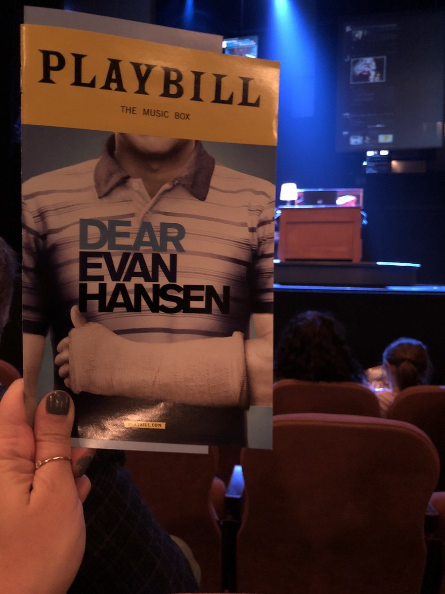 .@BenSPLATT performance is just perfection. It's 12 hours later and I'm still gutted. No idea how he, and the incredible cast do it nightly, but I'm so glad they do. @DearEvanHansen #YouWillBeFound