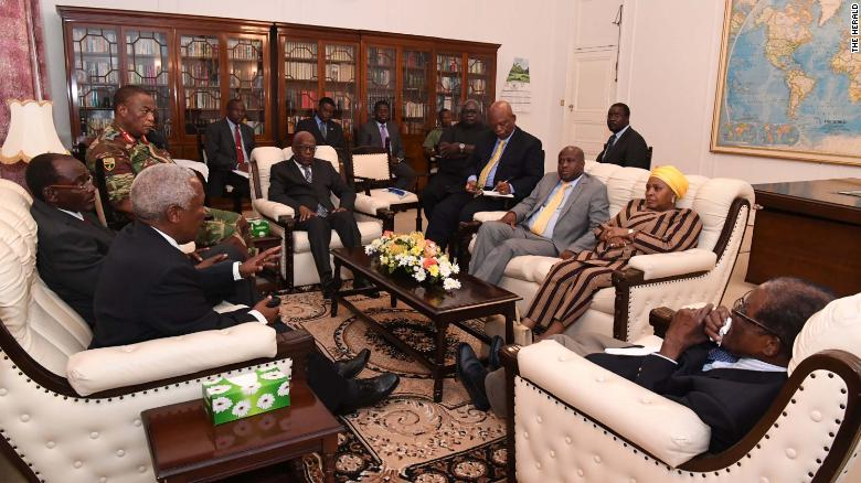 An extreme version of #manels: quasi all-male high level talks in Zimbabwe as Mugabe emerges from house arrest @CNNAfrica  http:// cnn.it/2yPqKJG  &nbsp;  <br>http://pic.twitter.com/DVUEEC7dxP