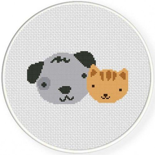 Cat And Dog, Handmade Unframed Cross Stitch- Cat Dog Lover Gift, Dog Cat Wall Art, Cat And Dog, Dog And Cat, Animal Lover Gift, Home Decor #etsyseller #crossstitch #etsyshop #etsychaching #craftshout  http:// jto.li/s6gTr  &nbsp;  <br>http://pic.twitter.com/NlpFZp8BFr
