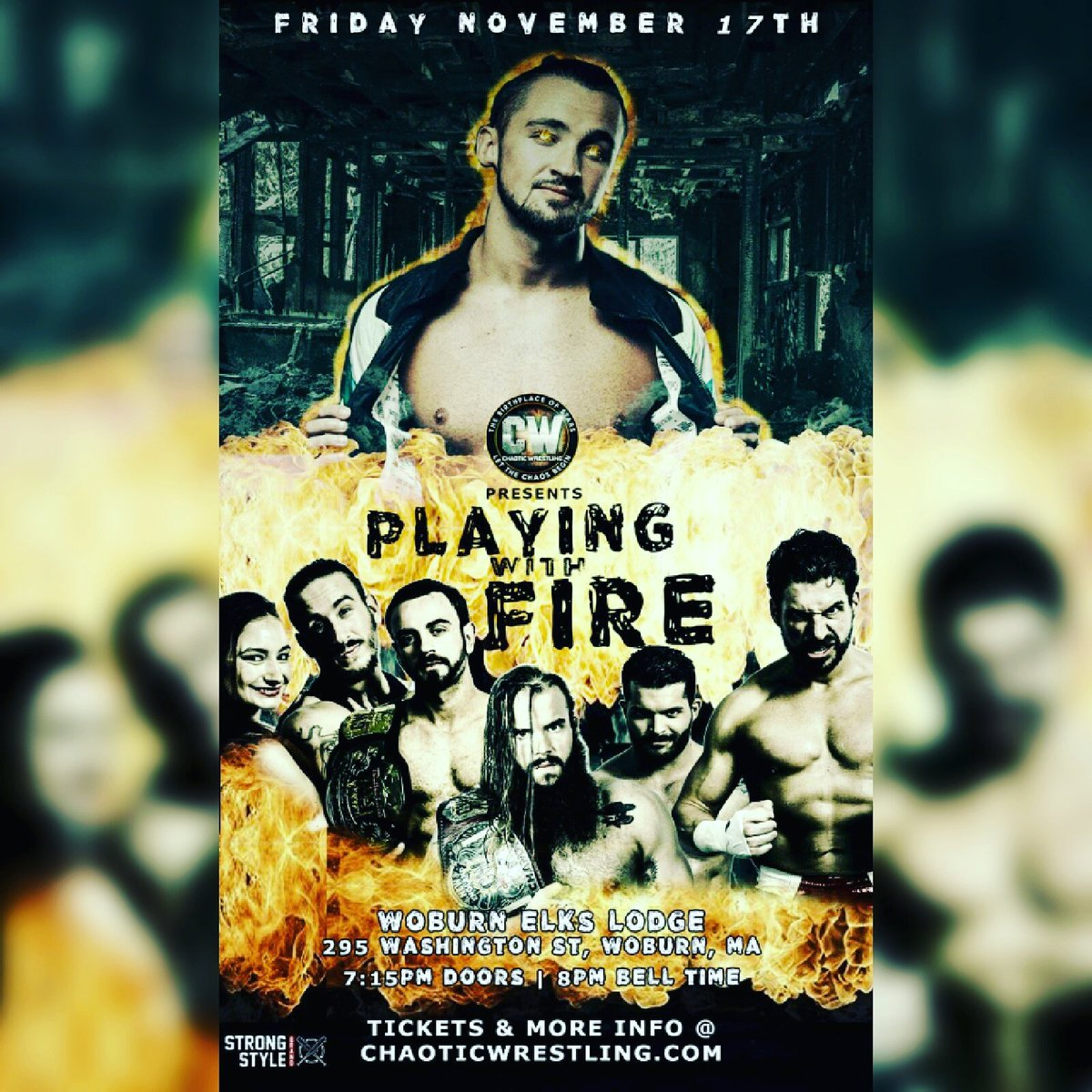 ...Next stop: Woburn, MA TONIGHT for @ChaoticWrestlin&#39;s #PlayingWithFire. : @StrongStyleB #LetTheChaosBegin #CWWoburn #SeniorOfficial #Referee <br>http://pic.twitter.com/jeecNFIdbG