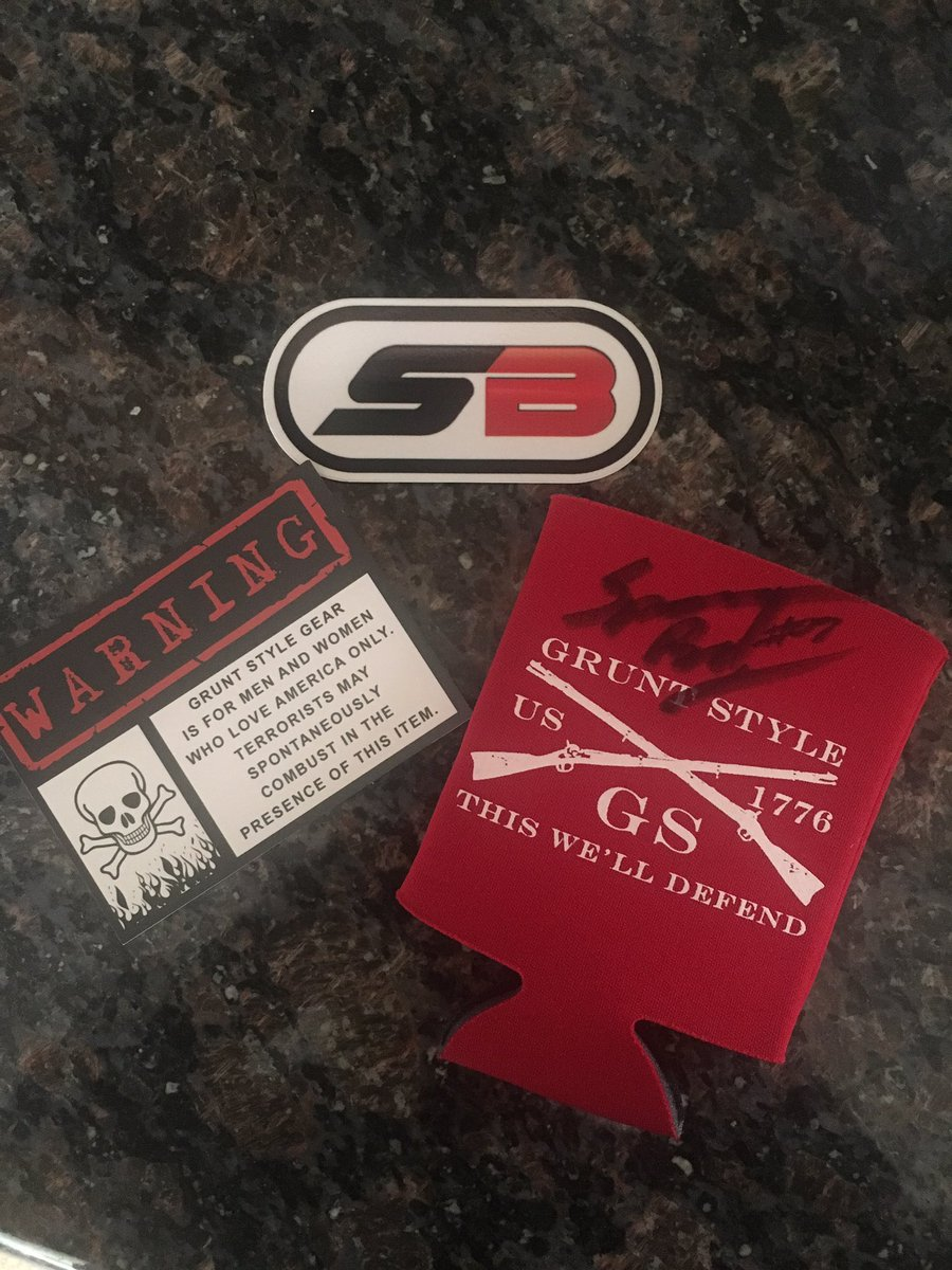 Giveaway!!! Follow and RT this for a chance to win!!! SB sticker and @Gruntstyle Coozie!!! #nascar #playoffs #giveaway #follow #GruntStyle<br>http://pic.twitter.com/9vIq76YEDb