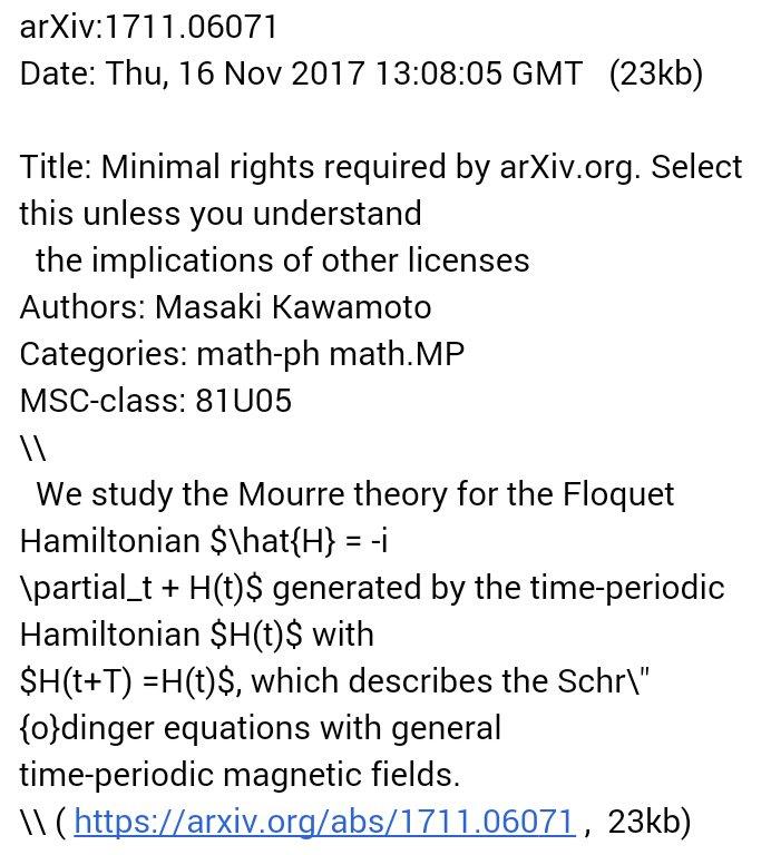 @arxiv Awesome title of this #arXiv preprint:   https:// arxiv.org/abs/1711.06071  &nbsp;    <br>http://pic.twitter.com/XqHN3udSIU