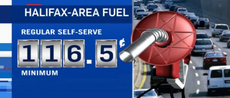 Happy Friday! You&#39;ll pay less for regular self-serve in #NS today. the min price is down 3 cents a litre in #Halifax to 116.5<br>http://pic.twitter.com/7wWlQWNj0p