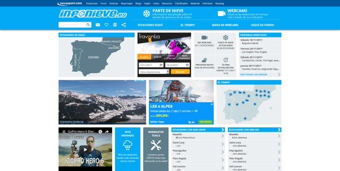 Hoy @infonieve estrena diseño de página. Impresionante trabajo 😍👌