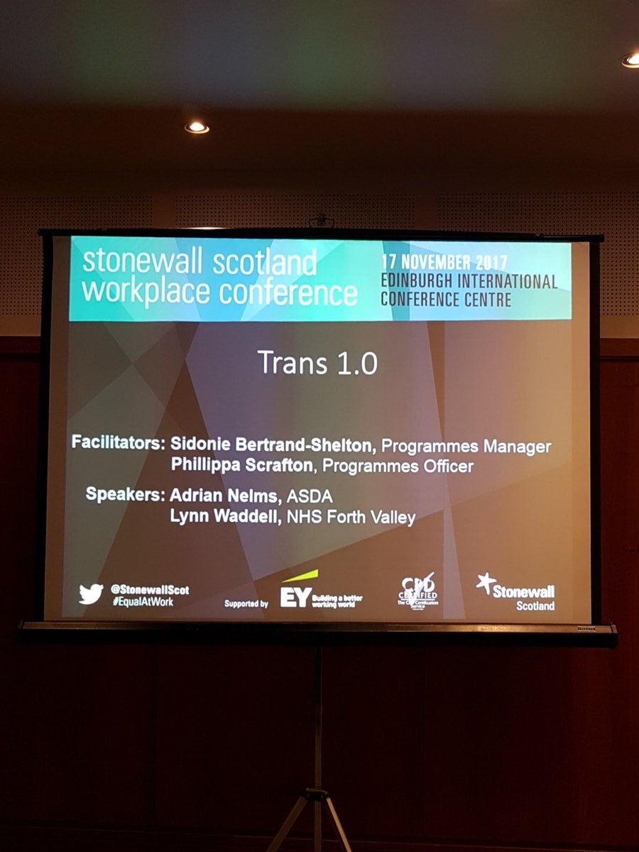 Great session about #trans inclusion facilitated by @BertShelt and @Pippa13pink @StonewallScot @stonewalluk #EqualAtWork<br>http://pic.twitter.com/Fvkx36d6pG