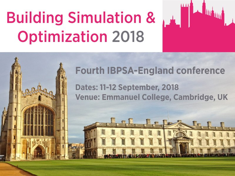 Call for Papers now open for the #Building #Simulation and #Optimization 2018 #conference in Cambridge - submit your abstract by 1 December!  https:// lnkd.in/d9mw4g9  &nbsp;   @IBPSA #IBPSA #IBPSAEngland<br>http://pic.twitter.com/lYbKWwhrM0