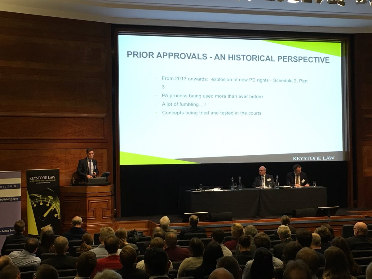 Ben Garbett takes to the stage at @RIBA to update our audience on 'Permitted changes of use under the #GPDO' #planning <br>http://pic.twitter.com/kTeBduvR4W