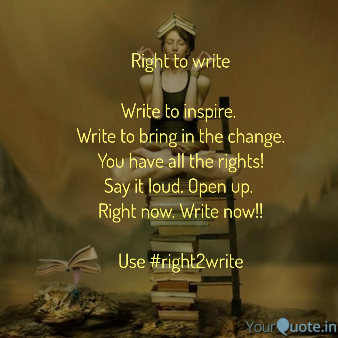 You&#39;ve been #Silent for long. #BeFree #BeYou #SpeakUp You&#39;ve all the rights to write. Write to #inspire.  Write to share #YourStory  Use #right2write. RT to make the world write.  #quote #amwriting<br>http://pic.twitter.com/BPqOsavI96
