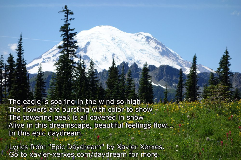 Some #lyrics from my #song, &quot;Epic Daydream.&quot;  Read all the lyrics &amp; listen to the song:  http:// xavier-xerxes.com/daydream  &nbsp;    See the #music #video at #YouTube:  https://www. youtube.com/watch?v=kjrKDV tBiDs &nbsp; …   #ProgRock #ArtRock #SymphonicMetal #Peace #Love #Joy <br>http://pic.twitter.com/nZWTCWqaTp