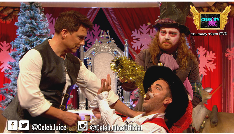 .@johnbarrowmanmbe doesn't even need mistletoe to play this game! #CelebJuice https://t.co/PS7gZ3mrAR