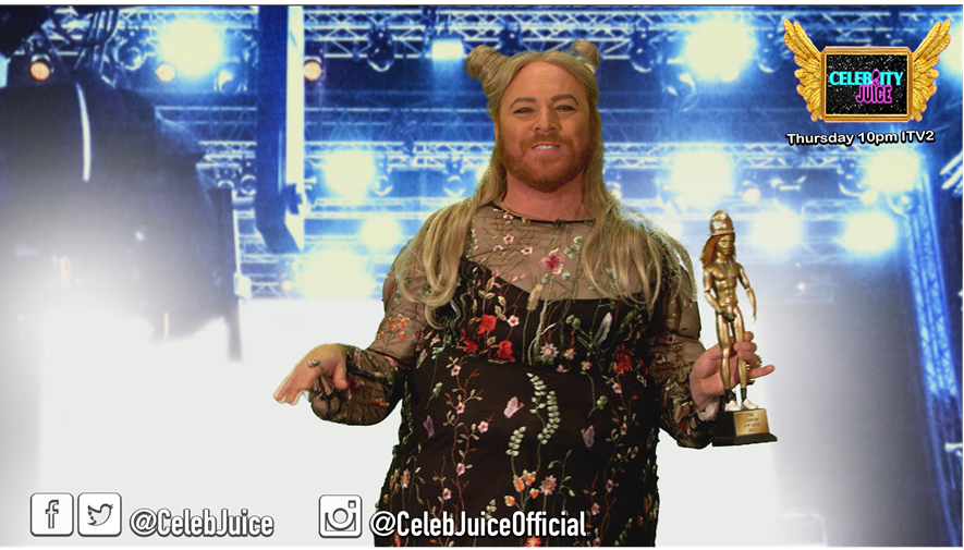 Thanks so much to @missgemcollins for accepting her Lemon Award! #CelebJuice https://t.co/7y8dz0lMci
