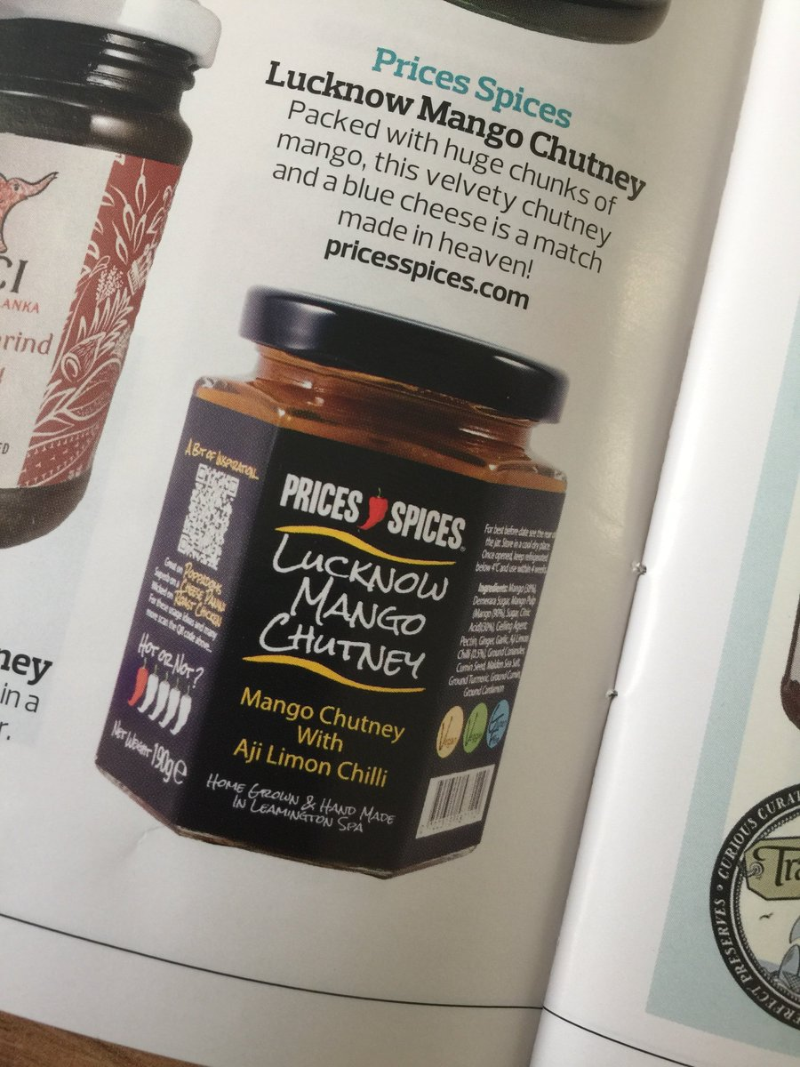 Very pleased to have some of our #products #featured in the @SpecialityFood Stock Check 2018 #publication !! Our #Lucknow #Mango #Chutney and also our #Fajitas #seasoning - #proud #artisan #food #indemand #delicious #deli #delicatessen #farmshop #shop<br>http://pic.twitter.com/AGHXO7nSHj