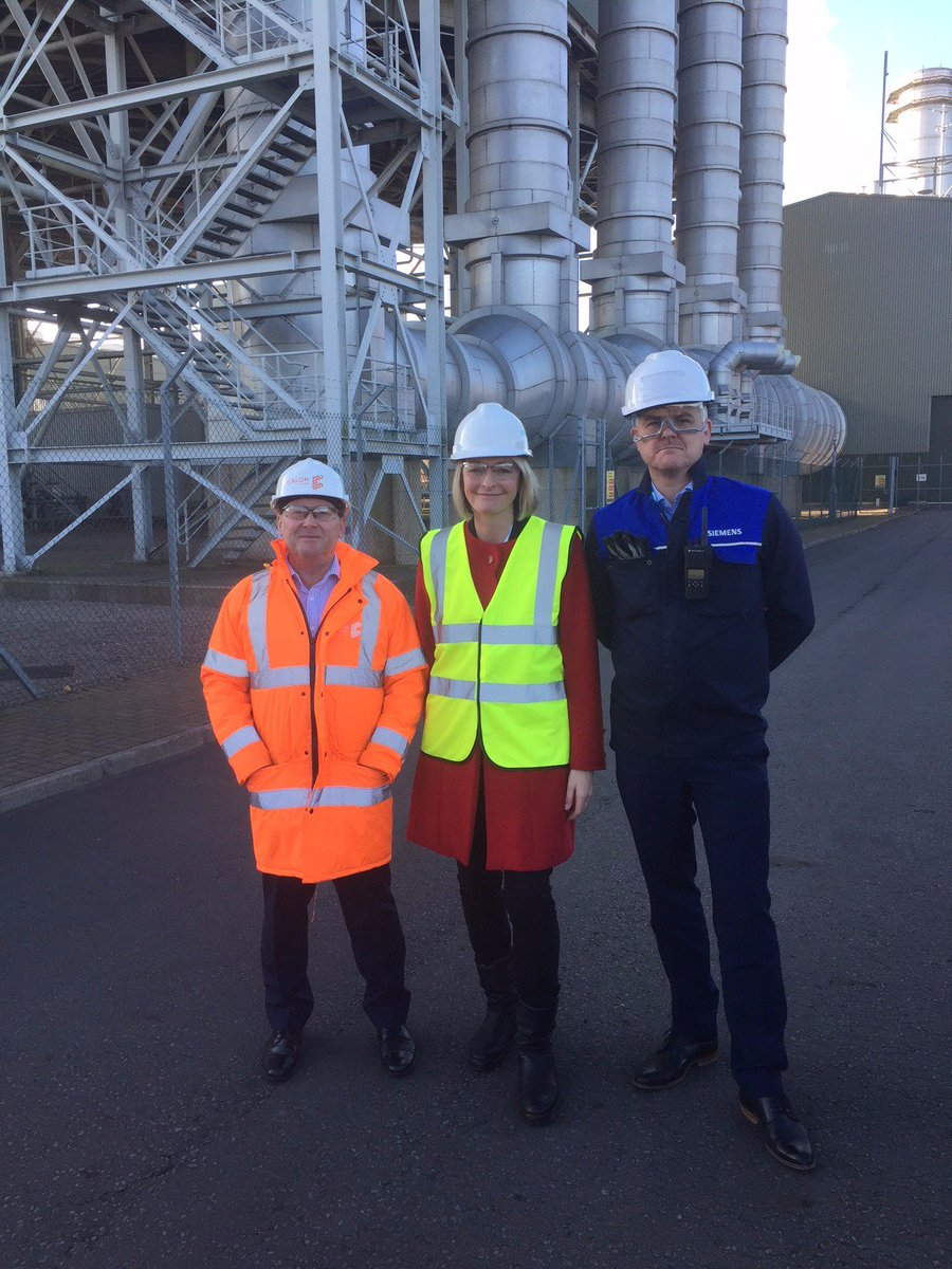 Thank you to all Severn Power Station for the visit today. Good to catch up with work at the gas powered Combined Cycle Power Plant on the estuary of the River Usk in #NewportEast #calonenergy #siemens Generation capability is enough to supply 1.5 million households with power<br>http://pic.twitter.com/jBdPcRAC0C