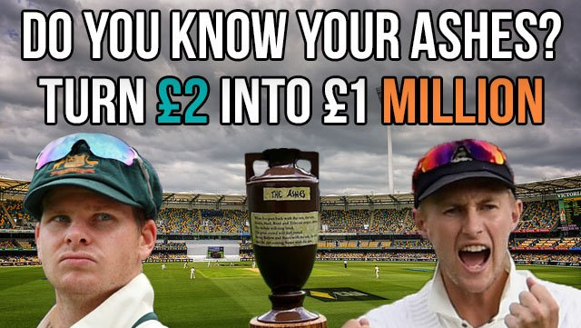 #Competition time!   We&#39;re giving away 5 #free £2 entries into our #Ashes  Series Jackpot for £1 million!   First 5 of you to guess our Who Am I correctly, win. You MUST retweet with your answer.   First clue coming up shortly...  #giveaway  #Freebet   http:// goo.gl/zXt18r  &nbsp;  <br>http://pic.twitter.com/YoTKMDt8Mf