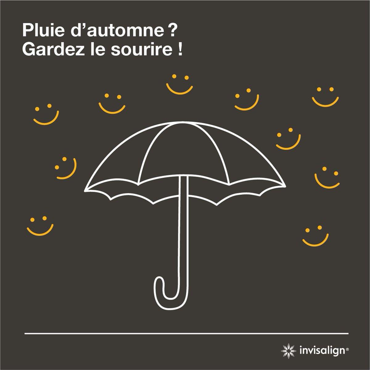 Pluie d'automne ? Gardez le sourire avec le traitement Invisalign® ! :) #tgif #smilemeariver #mood #smile #sourire #aligners #Invisalign https://t.co/RWEFCLk28s