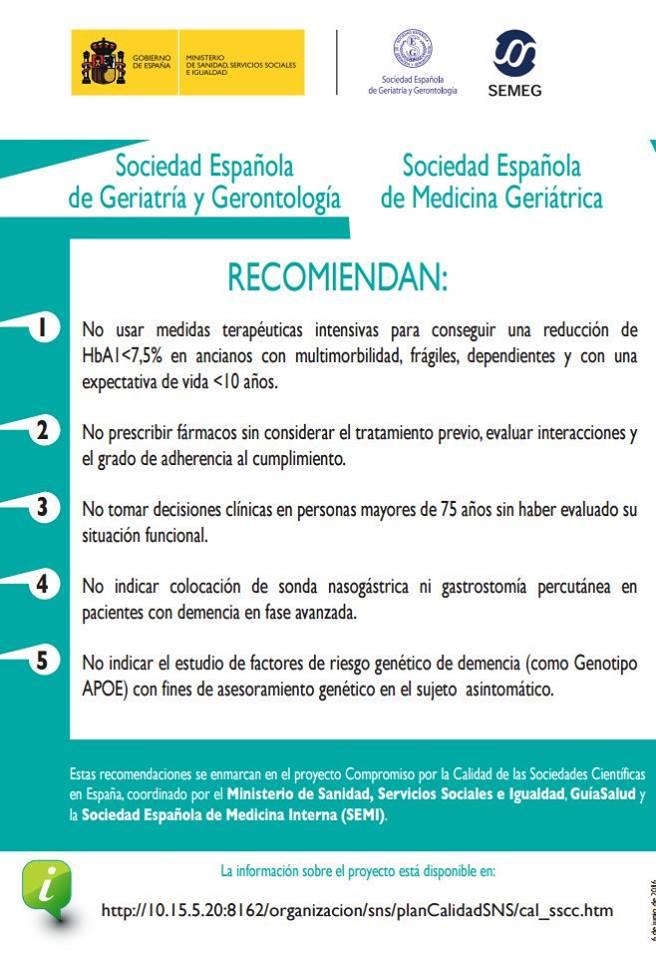 RT @seggeriatria: RECUERDA LAS CINCO RECOMENDACIONES DE NO HACER EN #GERIATRÍA. https://t.co/JwVreFG4Rk
