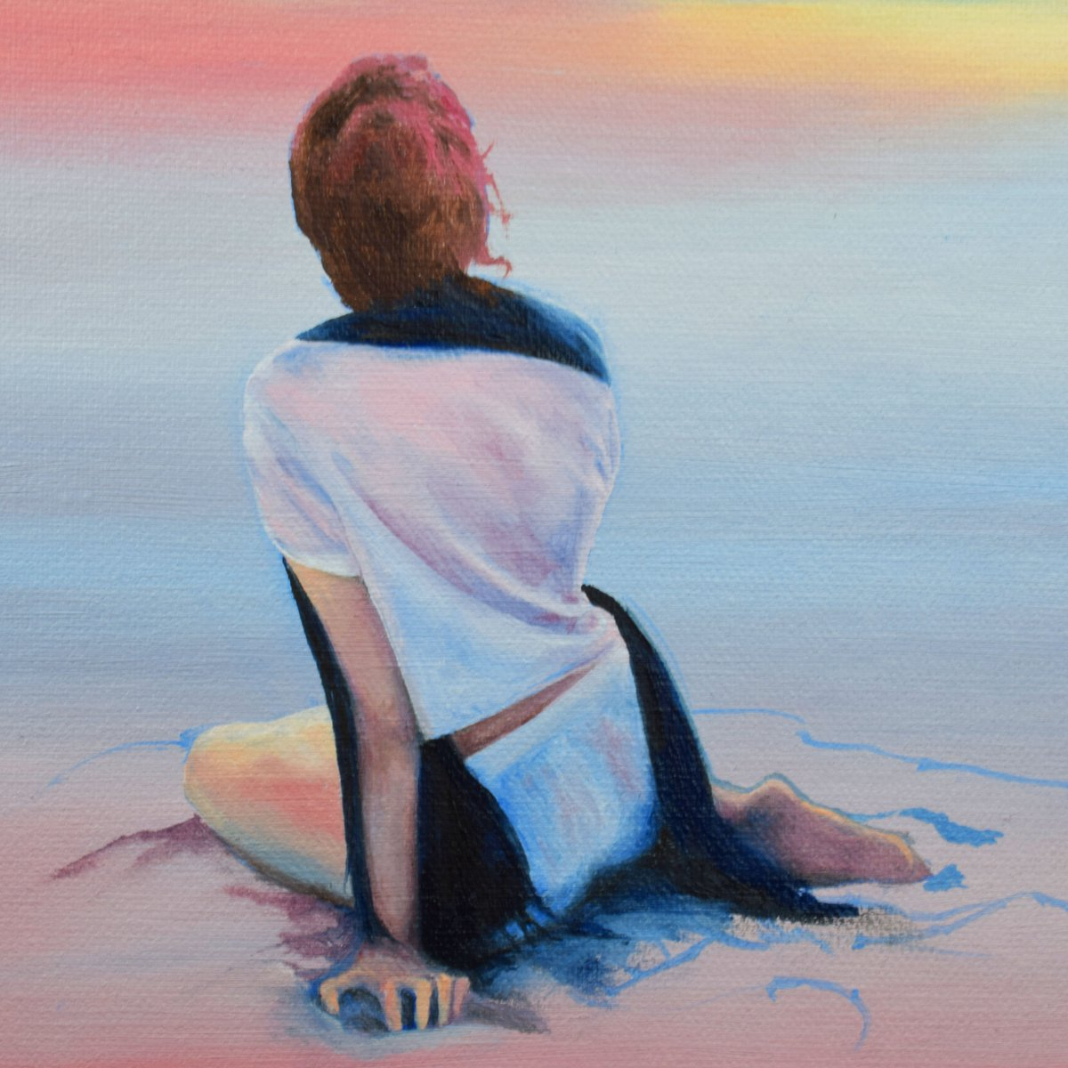 #HappyFriday everyone Back in the #Studio today working on my latest #oilpainting Keep sharing the love and have a wonderful day my friends  #beach #figure #FridayFeeling #Inspire #artoftheweek #WIP #creativeenergy  #artistsontwitter #painter #art<br>http://pic.twitter.com/6ANq5QksHG