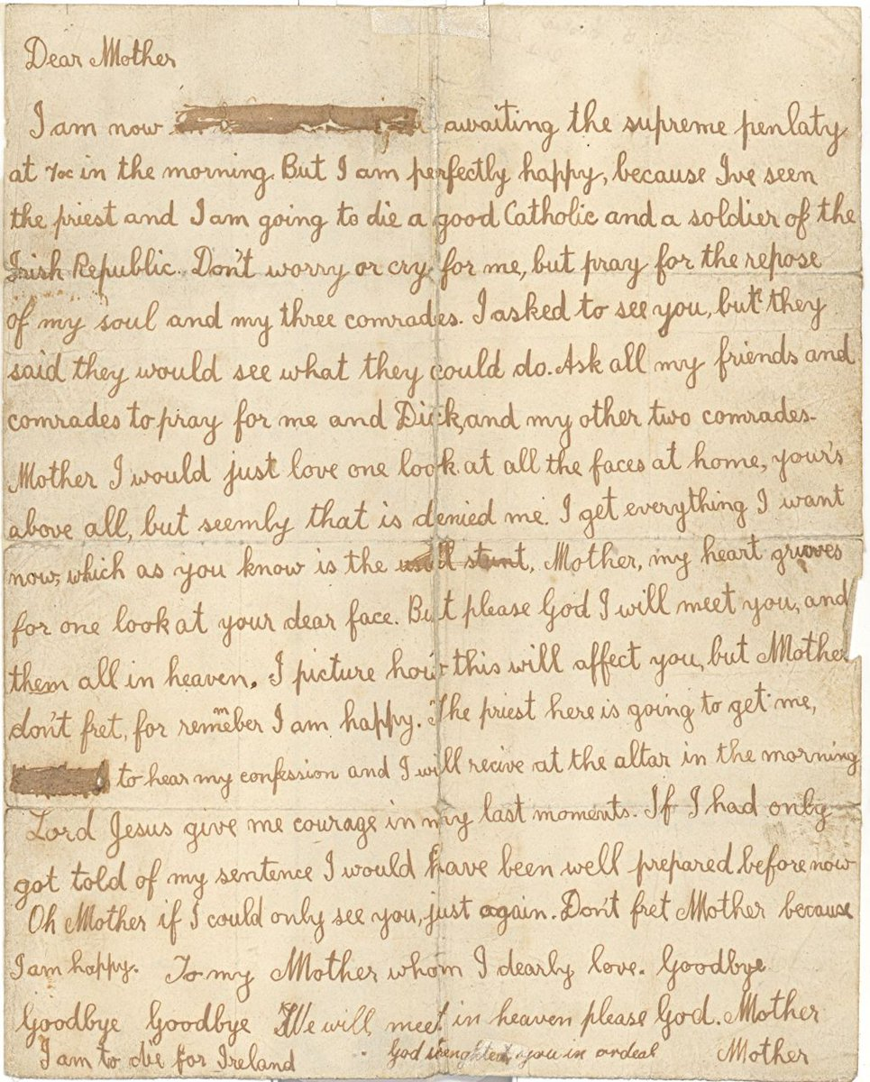 KilmainhamGaolMuseum on Twitter James Fishers last letter to his