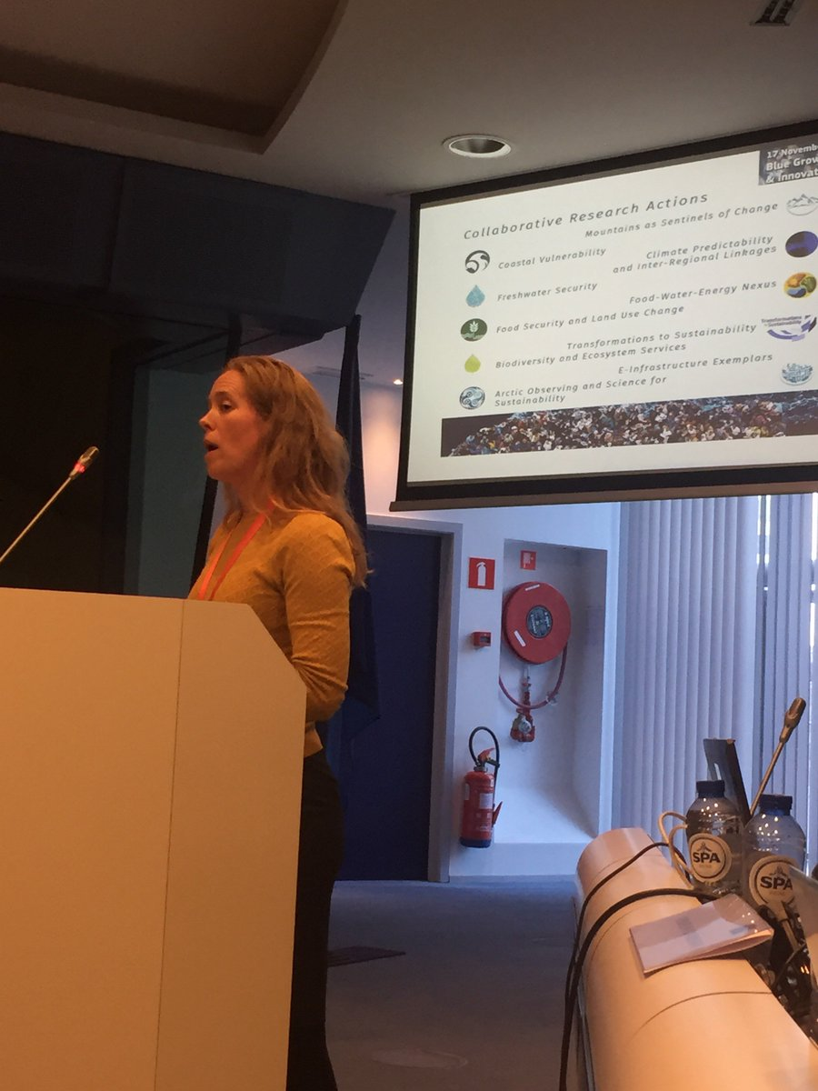 Lisa ALMESJO from Formas:Belmont Forum highlighted the need of pathways towards #sustainable use of #ocean minimizing #impact of #Global change #blueeconomy #bioeconomy<br>http://pic.twitter.com/KUDWUBjRwi