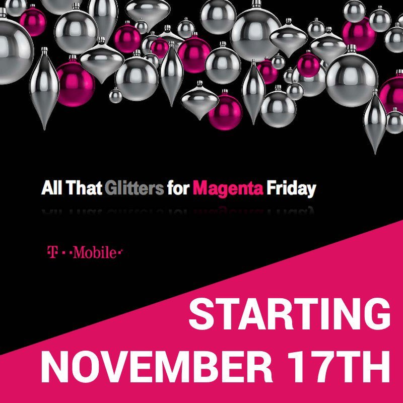 It's Magenta Friday @TMobile stop in any one of our great locations and start (or end) your holiday shopping with a bang! #WeWontStop #Columbus #NCredible #NestSecurity<br>http://pic.twitter.com/uuo8rVMlwS