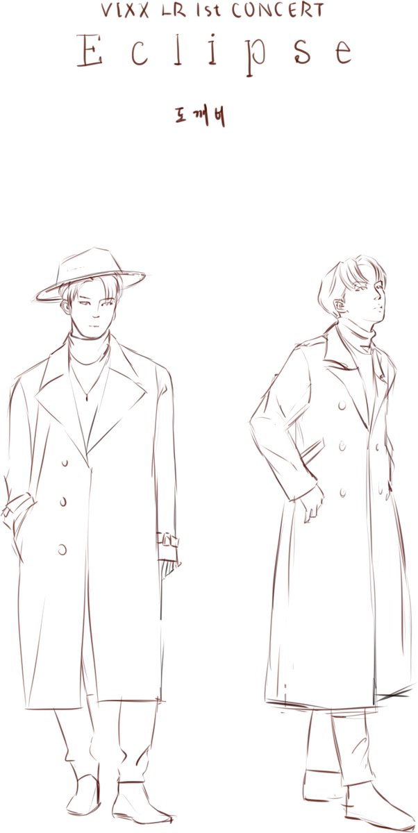 [SKETCH] LR Goblin? Was going to draw their new poster but then Taekwoon&#39;s coat just suddenly made me think of Grim Reaper and hence.... this happened LOL #fanart #vixx #sketch #LR #goblin #taekwoon #leo #ravi #wonshik<br>http://pic.twitter.com/BOGBBzlOsR