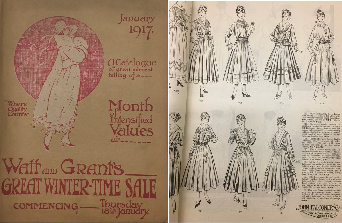 Our collection of early 20th Century Fashion and Sales Catalogues are just glorious! Here are a couple of images from Watt &amp; Grant, Aberdeen, and John Falconer &amp; Co, Aberdeen. (MS 3233) #explorearchives #Archivecatwalk #Aberdeen <br>http://pic.twitter.com/uIbx8NBzBP