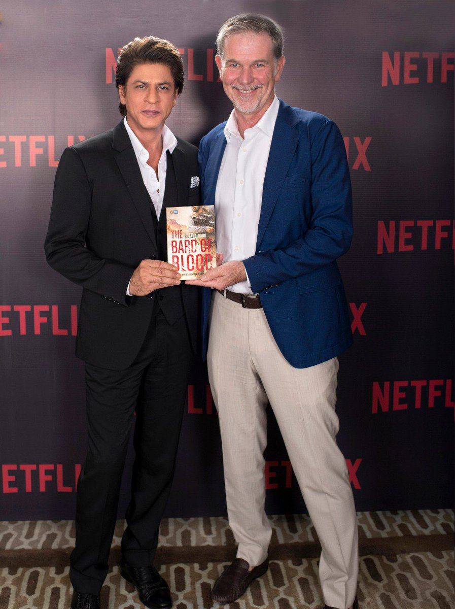 Tie-up of the year! @RedChilliesEnt has partnered with @netflix for their first Original Series, based on the book &#39;The Bard of Blood&#39; by @BilalS158 . @iamsrk @reedhastings @netflixindia @_GauravVerma #ShahRukhKhan #Netflix #TheBardOfBlood<br>http://pic.twitter.com/brgwRcNDlm