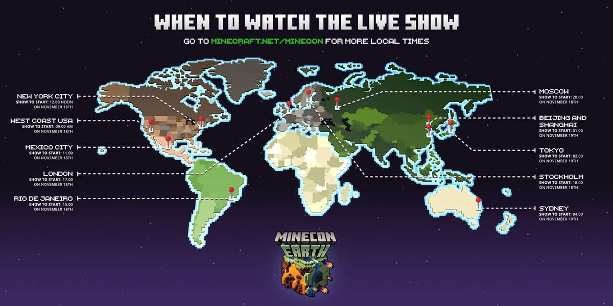 Minecraft On Twitter See What Time The Minecon Earth Livestream Is