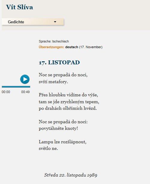 Lyriklineorg On Twitter Am 17 111989 Wird In Prag Ein