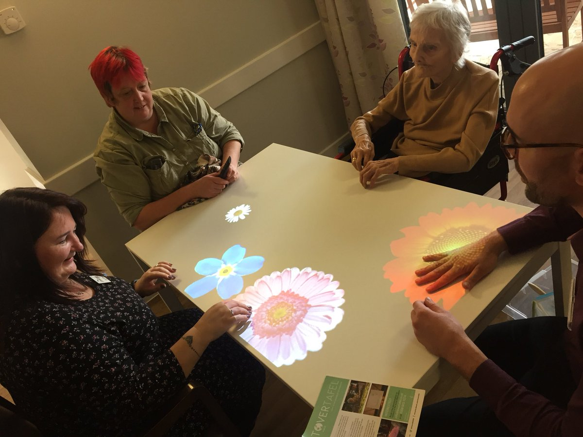 test Twitter Media - Tenants (and staff) are already loving the @TovertafelUK magic table at our specialist dementia care scheme in Milton Keynes! Great to see them enjoying themselves! #FlowersHouse #weCare https://t.co/vPZWP0xhAB