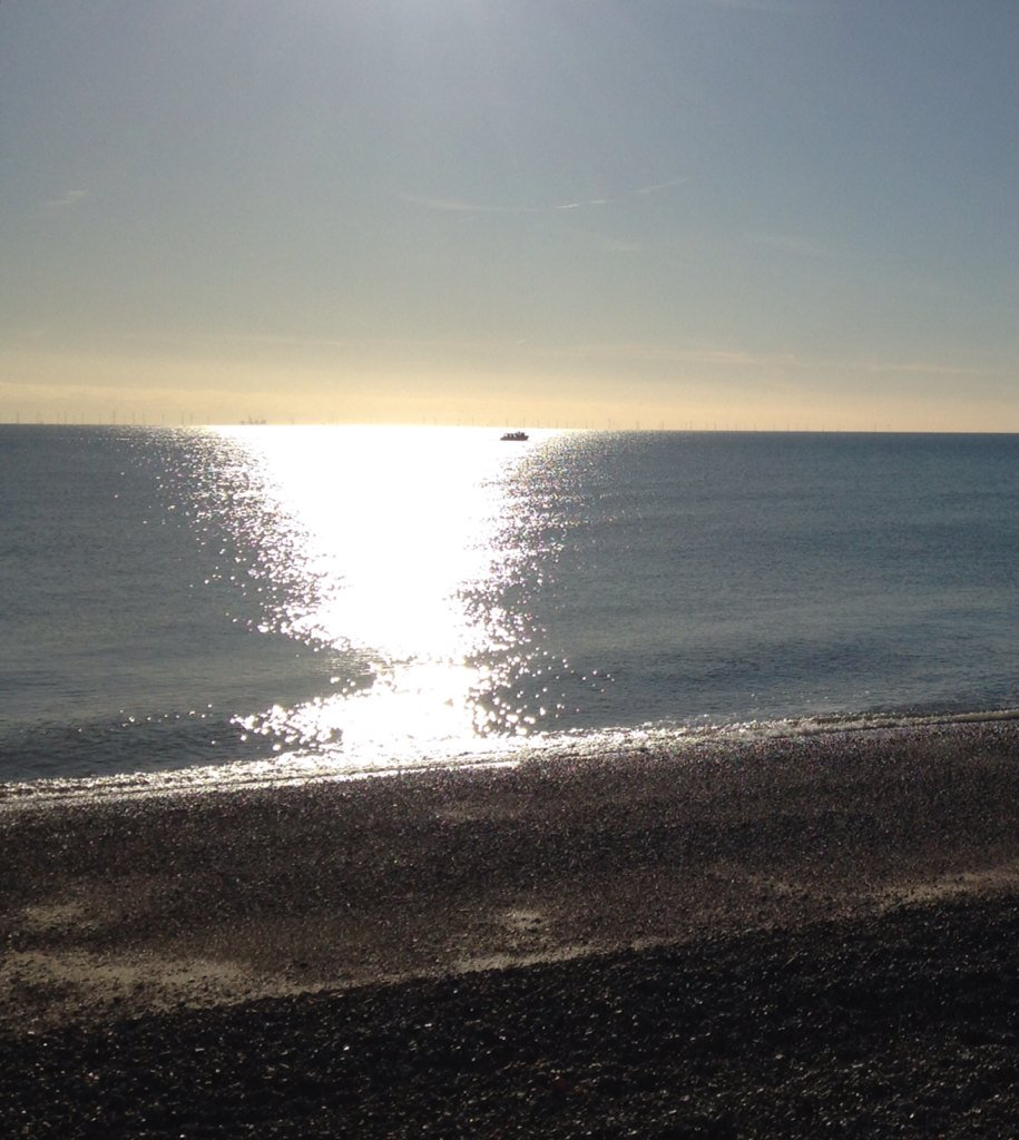 Marvellous sea sparkle and one boat going slow #friday #beach <br>http://pic.twitter.com/PnsD0JhUao