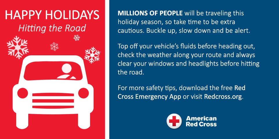 American Red Cross On Twitter Hitting The Road This Holiday