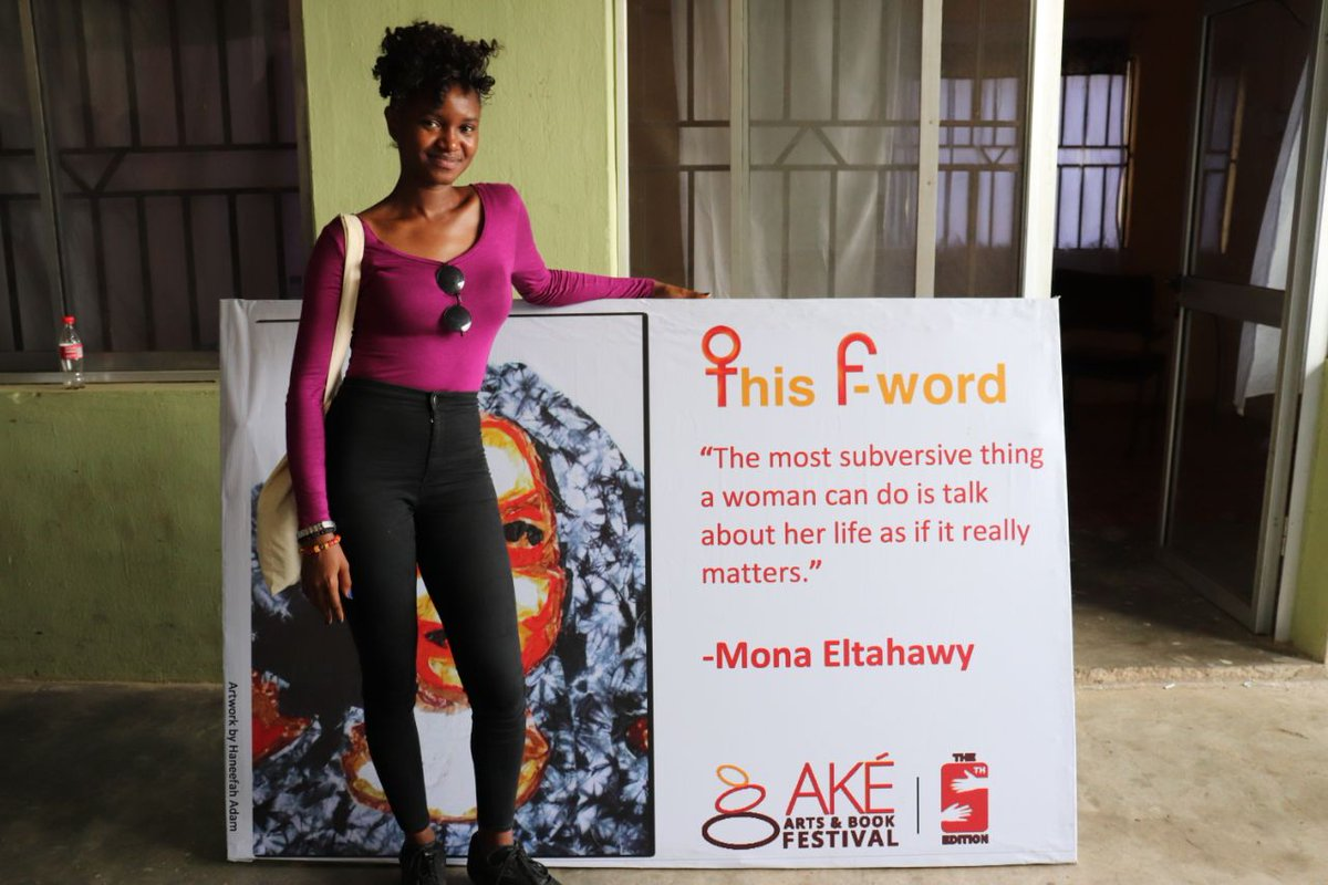 &quot;I fight for a world where a woman&#39;s worth is more than what she has in between her legs, a world where she is human first. I can&#39;t wait to watch it unfold&quot; #TheFWordChallenge #AkeFest17 Kindly #RT guys. <br>http://pic.twitter.com/87sGCKGzFE