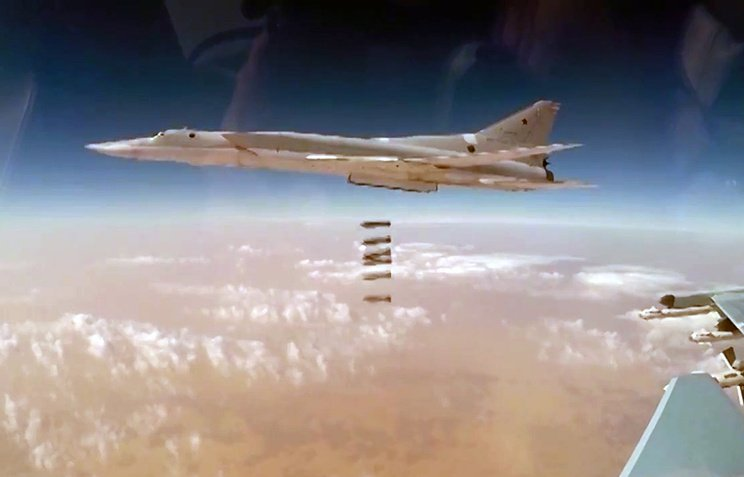 #Russian defense Ministry,Six long range #Russian Bombers Tupolev-22M3 Left an airbase in #Russia,crossed #Iranian and #Iraqi airspace and carried out a Massive airstrike against #IS near #AlbuKamal Militant formations and armoured vehicles &amp; Strong points were destroyed.#Syria. <br>http://pic.twitter.com/MeNaDCp7CJ