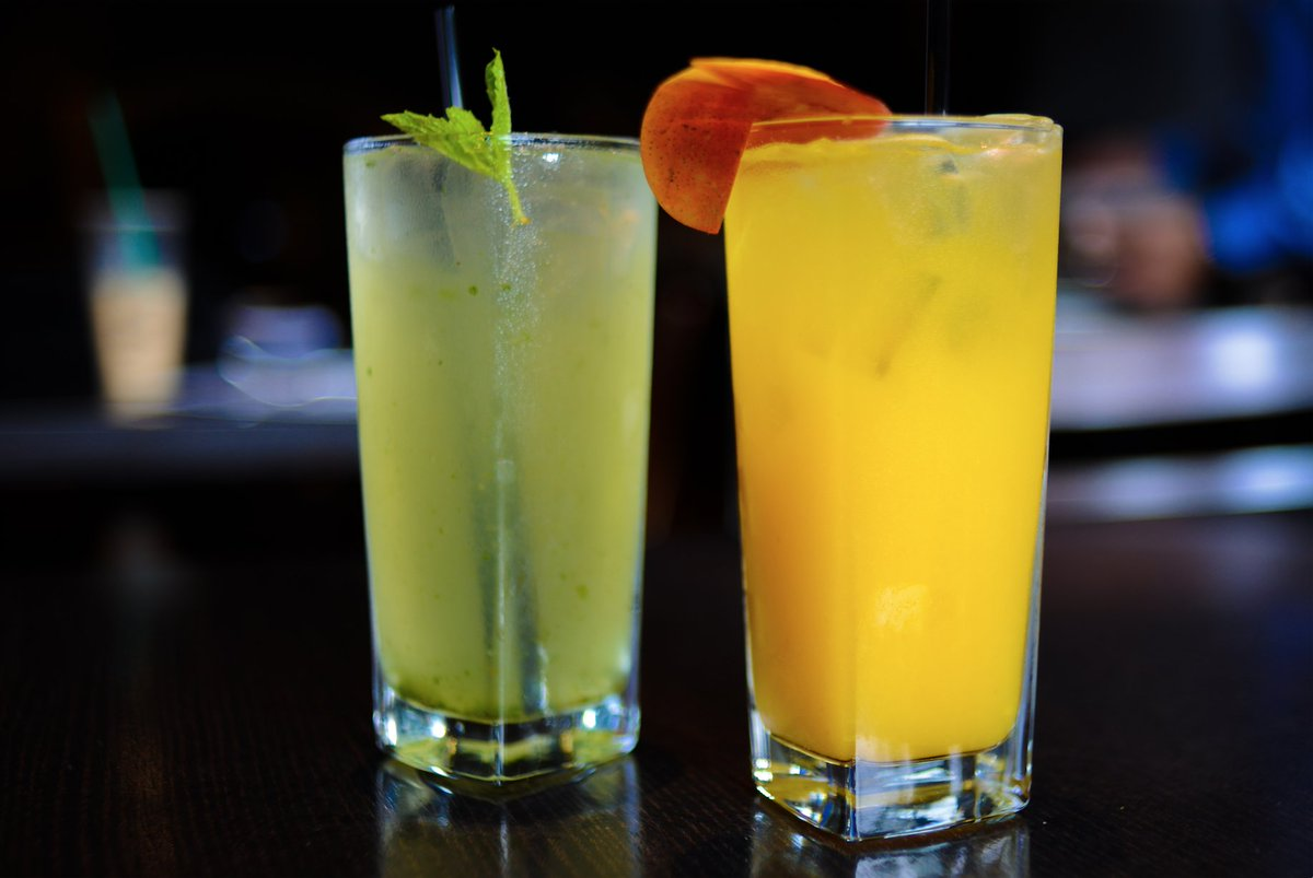 Minty #Lemonade for you, #Mango-Ginger Jito for me! <br>http://pic.twitter.com/9tex4pWHp2