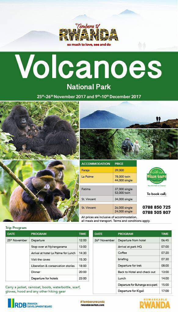 #TemberuRwanda this time round heads to #VolcanoesNationalPark &amp; we are excited to learn more about the significance of #conservation &amp; protecting the endangered mountain gorillas #ConservationIsLife  #SustainableTourism<br>http://pic.twitter.com/uv8EZomasM