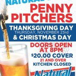 All DJ's Dugout locations will be closed Thanksgiving Day. Bellevue & Miracle Hills locations only WILL OPEN Thanksgiving Night for Penny Pitchers from 8pm - 1am. $20 Cover, 21 & over only. See flyer for full details.