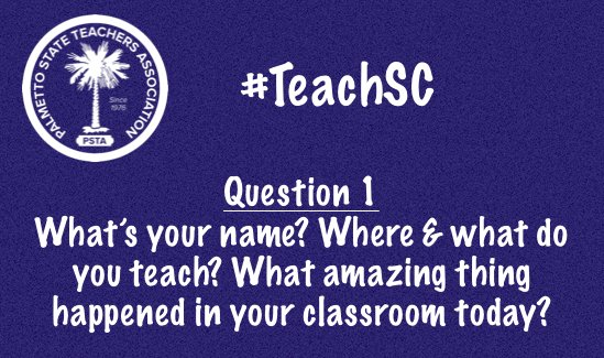 #TeachSC Greeting