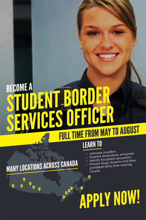 #DYK We hire student border services officers every year? Apply by November 30 for a job next summer!  http:// cbsa.gc.ca/job-emploi/stu dent-etudiant/sbso-aesf-eng.html &nbsp; … <br>http://pic.twitter.com/EHLz8GnOog