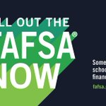 If you haven't filled out the FAFSA form yet, *do it now* so you don't miss out on that sweet financial aid 💵 💵: https://t.co/UkDTaATvap