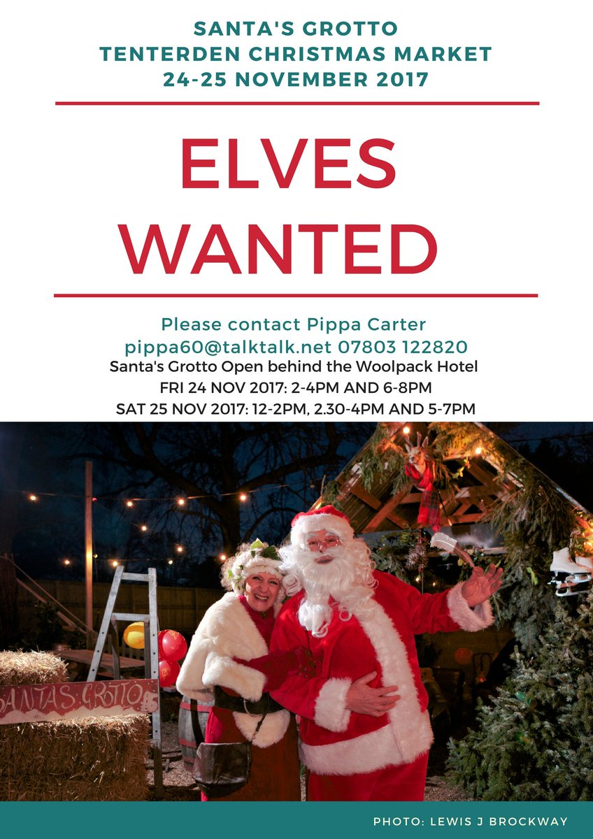 Christmas Help Wanted.My Tenterden On Twitter Elves Wanted For Santa S Grotto At