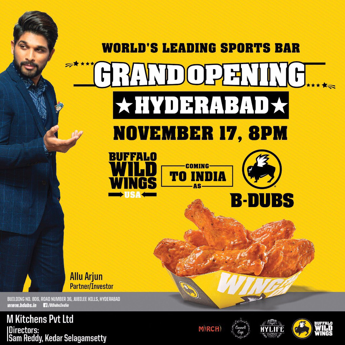 Congratulations @alluarjun  Our #StylishStar Brings &quot;B-BUBS&quot; To India  And Inaugurated Today In #Hyderabad  <br>http://pic.twitter.com/bIWyj2hWQX