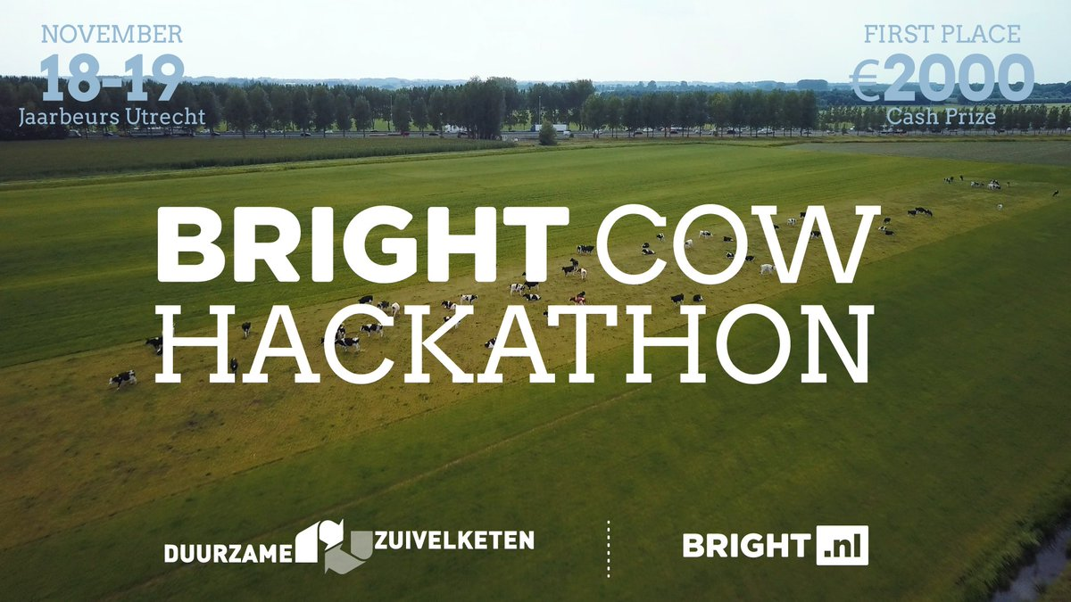 LAST CALL! for #AgTech #Hackers, #startups or anyone with a good idea to keep our land, our cows and our family farms sustainable, healthy and happy! @WUR @Bright @nnebruinsma @FarmHackNL #opensource #opendata <br>http://pic.twitter.com/OLKe0CiNo4